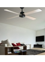 Ceiling fan without light 4 reversible blades available in 3 different finishes - Ibiza – Faro