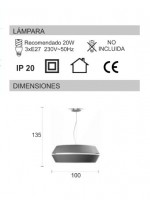 Pendant lamp with a grey chins material shade with 2 pieces and 2 sizes – Ingrid – IDP Lampshades