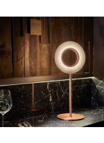 Wooden LED Table lamp - Lens Circular