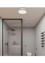 LED ceiling light for the bathroom with IP44 double layer glass - Lina - ACB Iluminación