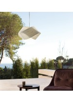 Lámpara de techo de madera natural blanca - NUT - Lzf