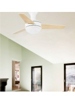 Ceiling fan with light and 3 reversible blades available in 2 different finishes - Mini Ufo – Faro