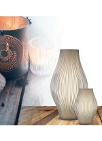 Textil and acrylic table lamp in 2 finishes and 3 sizes - Murta - ACB Iluminación