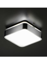 Plafón de techo cuadrado de aluminio cromo en 3 tamaños LED 3000K - Arcos - Pujol Iluminación