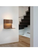 LED wood and methacrylate wall lamp in 4 finishes 3000K - Lamparella - Plussmi