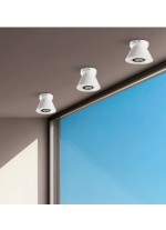 Double layer glass ceiling lamp in chrome and opal Ø 15 cm- Smart - ACB Iluminación