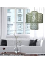Pendant lamp with shade with 2 pieces and 3 finishes – Spider – IDP Lampshades