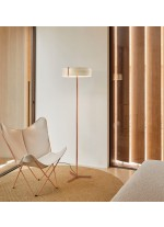 Lámpara de pie LED de madera natural en varios colores – Thesis – Lzf