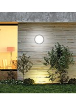 LED outdoor ABS and acrylic ceiling lamp with motion sensor IP 65 Ø 30 cm - Tilo - ACB Iluminación