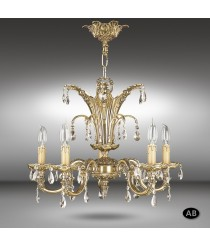 Classic pendant lamp with Asfour or Swarovski crystals - Royal - Riperlamp
