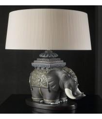 Porcelain Table Lamp – Siamese Elephant – Lladró