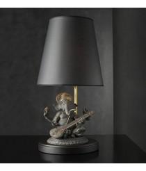 Porcelain Table Lamp – Veena Ganesha (black) – Lladró