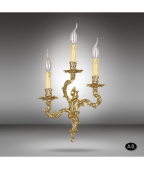Brass wall light with 3 lights and 3 finishes - Riperlamp
