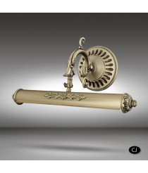 Classic brass picture light with 2 lights, 4 measures and 3 finishes - 030A - Riperlamp
