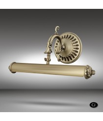 Classic brass picture light with 2 lights, 4 measures and 3 finishes - 030E - Riperlamp