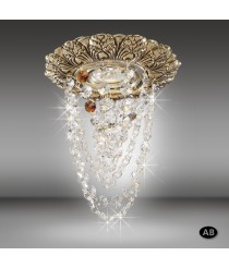 Recessed ceiling spotlight LED with Asfour or Swarovski crystal beads - Mara - Riperlamp
