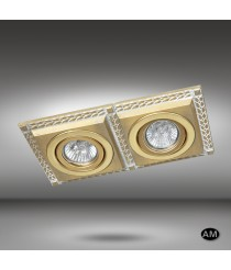 Recessed ceiling spotlight LED 2 lights available in 6 finishes - Line - Riperlamp