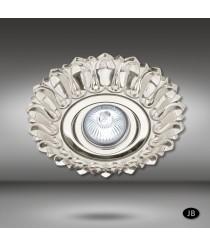 Brass recessed ceiling lamp LED in 6 finishes Ø 17 cm - Estela - Riperlamp