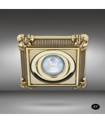 Square brass recessed spotlight LED in 6 finishes - Nicole - Riperlamp