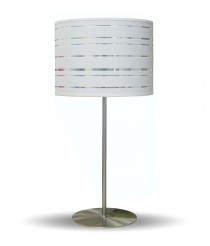 Table lamp with a shade made with die cut material – Arenal – IDP Lampshades