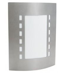 IP44 stainless steel bathroom wall light - Gregal - Dopo - Novolux