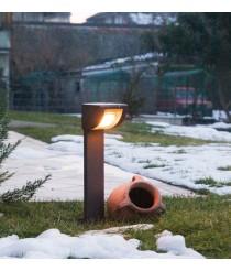 IP55 black aluminium outdoor post light 60 cm - Intro - Dopo - Novolux