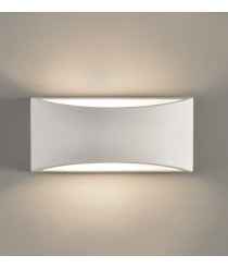 White-finished plaster wall light – Dana – ACB Iluminación