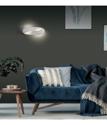 LED white textured metal wall light 3200K – Norma – ACB Iluminación