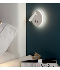LED textured white wall light – Panau – ACB Iluminación