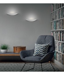 LED metal textured white wall light – Buton – ACB Iluminación