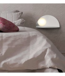 LED metal textured white wall light – Candy – ACB Iluminación