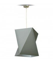 Pendant lamp with a laminated chins material – Origami – IDP Lampshades