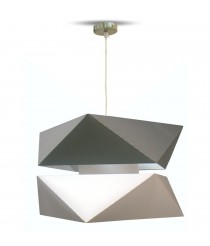 Ceiling pendant light with 2 shades of grey – Origami – IDP Lampshades