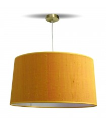 Modern ceiling lamp with a gold silk shade Ø 40 cm – Estampados – IDP Lampshades