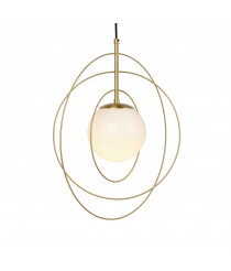 Wire pendant lamp with rings