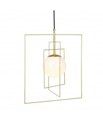 Wire pendant lamp with rectangles