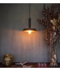 Industrial ceiling pendant in Black/Gold - WHIZZ - Faro