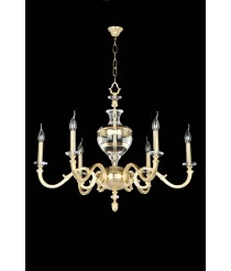 Transparent Acrilic Chandelier 6 Lights