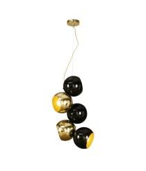 Lámpara colgante de latón con 5 luces – Werkbund – MYO