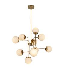 Lámpara de techo de latón y cristal de doble capa – Fairmont – MYO