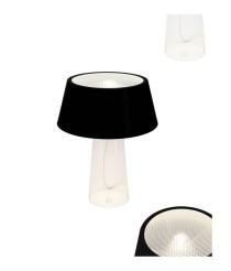 Lámpara de mesa de aluminio y cristal liso o tallado – Light Vader – MYO