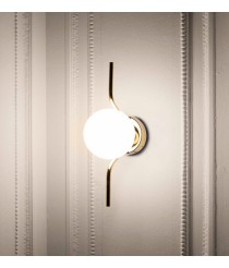 Wall light with gold structure and glass diffuser - Le Vita – Faro