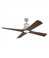 Ceiling fan available in 2 finishes with or without IP44 light and remote control - Winche - Faro