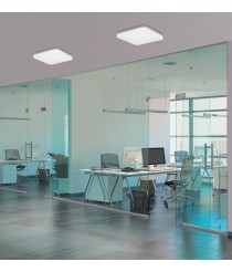LED white metal and acrylic ceiling lamp – Uzza – ACB Iluminación