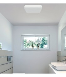Aplique de techo LED de acrílico con acabado blanco IP 54 3000-6500K – Square – ACB Iluminación