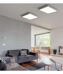 Aplique de techo LED de metal y acrílico con acabado blanco Ø 40 cm 3000K – Munich – ACB Iluminación