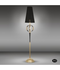 Classic bronze floor lamp with Asfour or Swarovski crystal and 1 light - Arianna - Riperlamp