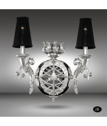 Wall lamp with 3 finishes and Asfour or Swarovski crystal - Arianna - Riperlamp