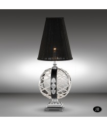 Classic empire style table lamp in 3 finishes with Asfour or Swarovski crystal - Arianna - Riperlamp