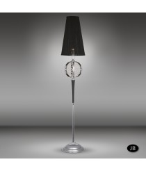 Floor Lamp with crafted details and Asfour or Swarovski crystal, glass center ball - Arianna - Riperlamp